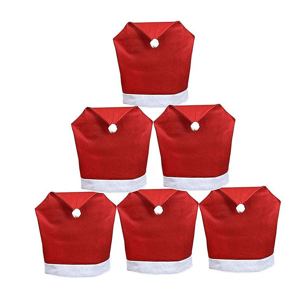 santa chair covers sets for a party buy set of 6 pcs christmas claus hat clause red