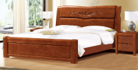 Latest Design Rubber Wood Double Bed
