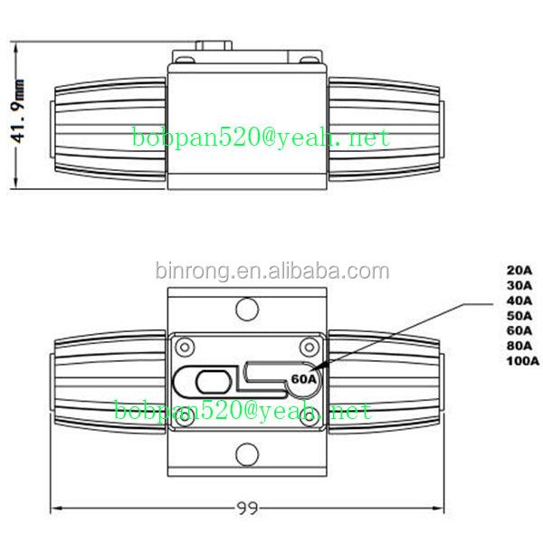 20a-100a Amp Car Audio Solar Energy Inline Circuit Breaker