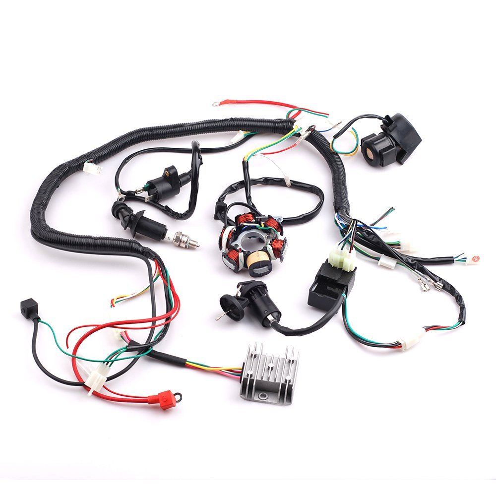 hight resolution of get quotations cisno complete electrics wiring harness wire loom magneto stator for gy6 4 stroke engine type