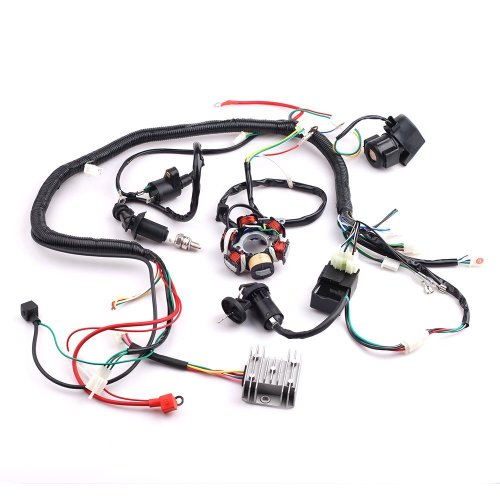 small resolution of get quotations cisno complete electrics wiring harness wire loom magneto stator for gy6 4 stroke engine type