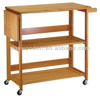 kitchen serving cart kohls mats solid wood foldable prep buy