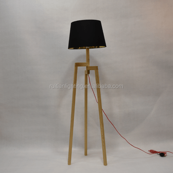 standing lights for living room futon design wooden scandinavian tripod floor lamp 3 legs