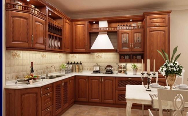 Solid Wood Kitchen Cabinet Modular Kitchen Designs For