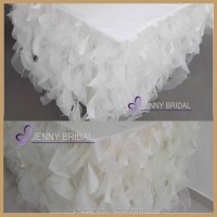 Tc017c3 Hot And Popular,Curly Willow White Ruffled Table ...