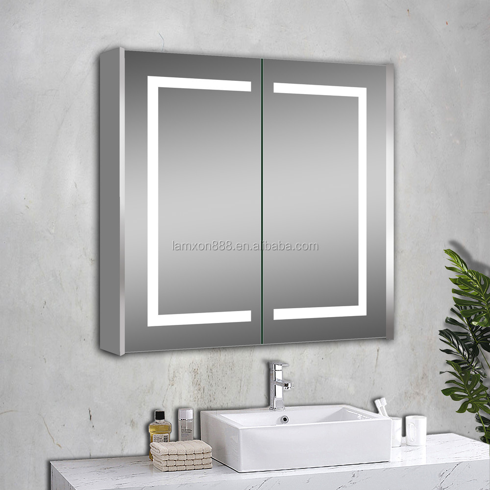 Illuminated Bathroom Mirror New Design Usa Illuminated Bathroom Mirror Cabinet With Anti Fog And Sensor Switch Buy Illuminated Bathroom Mirror Cabinet Illuminated Bathroom