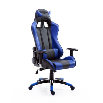 pu leather office chair covers hire west midlands hot style executive racing gaming reclining chairs red blue