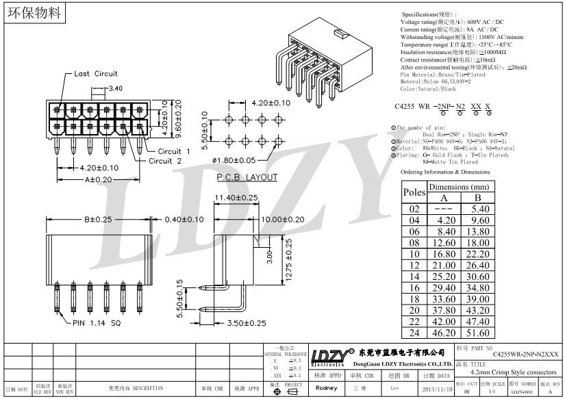 2~24 Pin Male Molex 4.2mm Connector 39012020 39012040