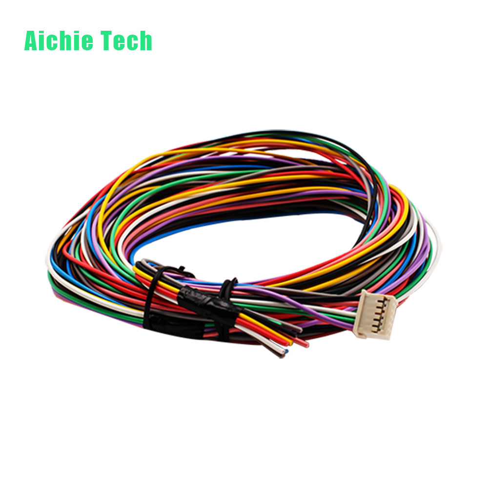 hight resolution of multi colored coded automotive cable harness