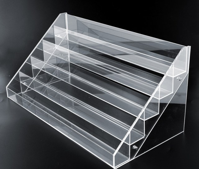 Wholesale Nail Polish Display Shelf Counter Top Acrylic Display Shelf