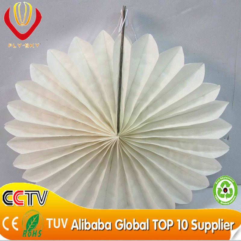 White Color Flower Craft Wedding Tissue Paper Fan Hand Cut Fans Invitation On Alibaba