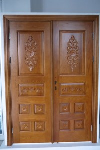 Prehung Exterior Double Door 96 Wood Mahogany 2 Panel ...