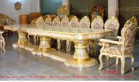 Royal Palace 435cm Silver Gold Gilded Carved Long Big ...