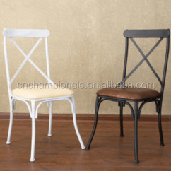 White X Back Chair Tied To Vintage Metal Dining Cross Mx 0701 Buy Industrial Chairs