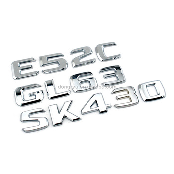 Adhesive 3d Chrome Letters Car Brand,Metal Numbers Sample