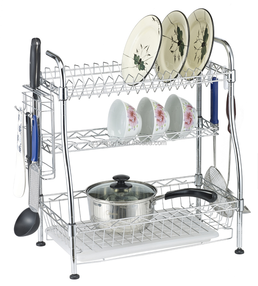 Wire Hanging Cutlery Rack Plate Holder For Kitchen