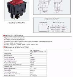 double pole gray rocker switch dpdt dpst on off on on on [ 1000 x 1410 Pixel ]