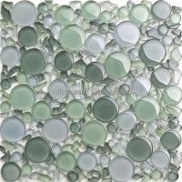 Light Green Crystal Irregular Shape Bubble Glass Bathroom ...