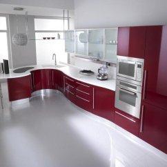 Colorful Kitchen Cabinets Cabinet Trim Installation 2018 红色多彩现代厨柜 酒店厨房家具 定制厨房 Buy 厨柜 现代厨房