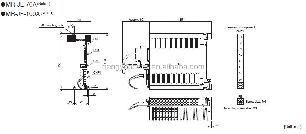Mitsubishi Mr-je Series 400w Ac Servo Amplifiers Mr-je-40a