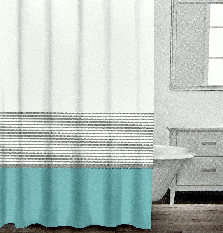 Buy Caro Home 100 Cotton Shower Curtain Wide Stripe Fabric