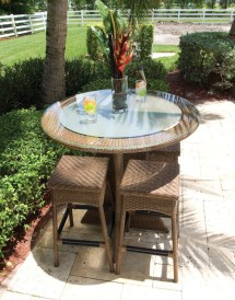 Beach Patio Bar Tables and Chairs