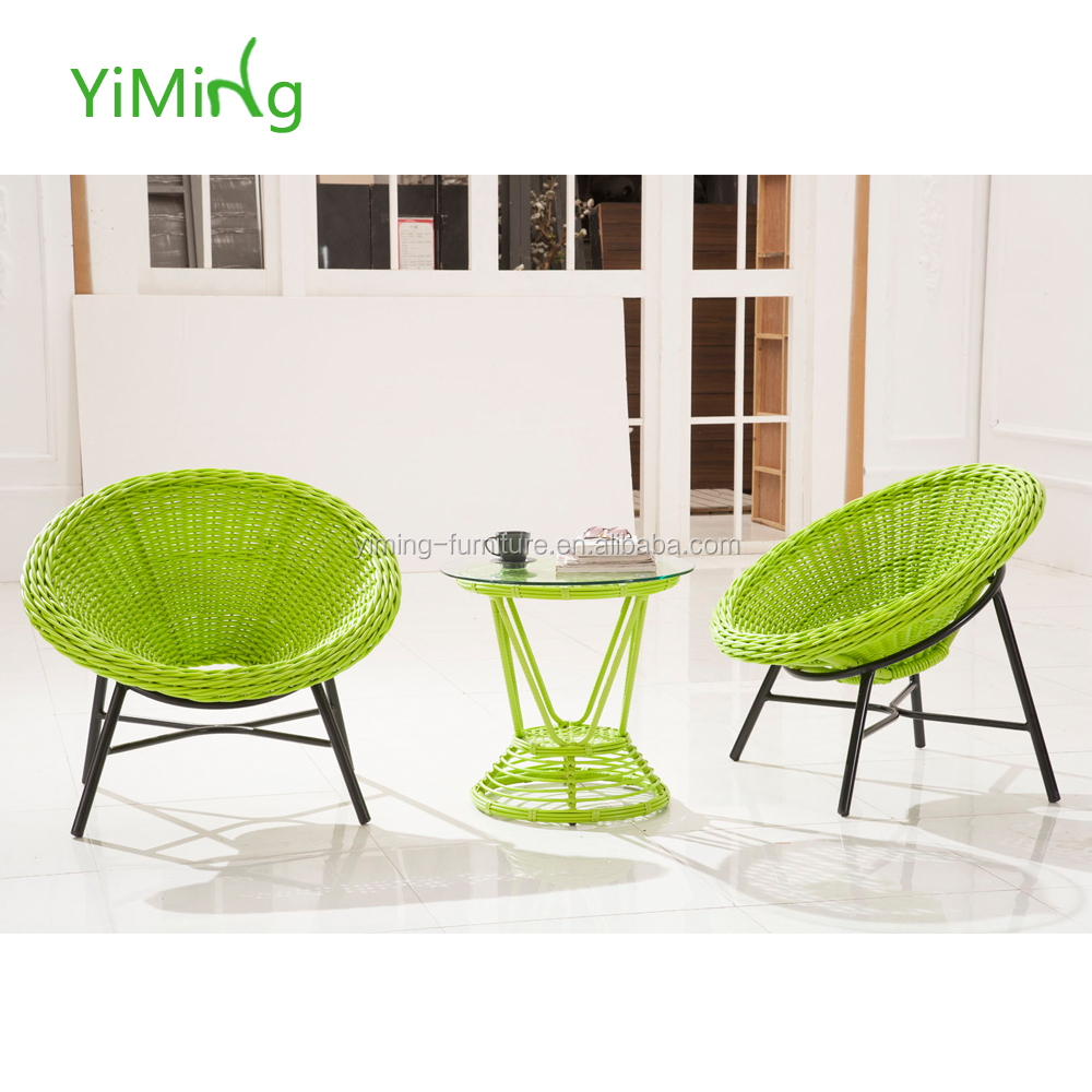 Wicker Patio Chair Popular Green Round Rattan Outdoor Coffee Chair And Table Set Synthetic Wicker Patio Furniture Buy Round Rattan Outdoor Coffee Chair And