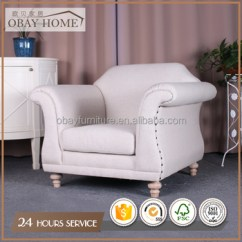 Traditional Armchairs For Living Room Dark Green Paint Colors French Rustic Antique Single Seat Fabric Sofas