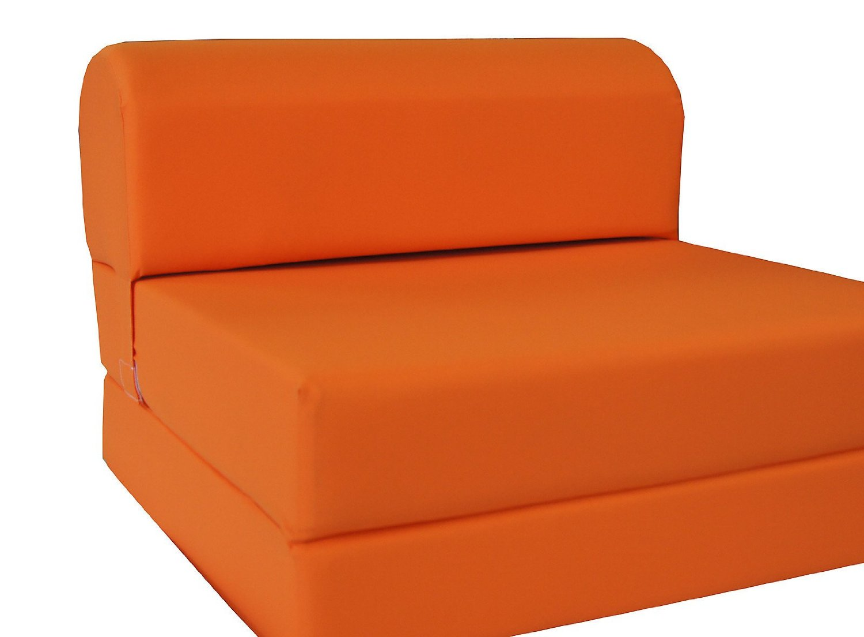 fold away single chair bed restaurant chairs wooden buy orange sleeper folding foam sized 6 thick x 32 wide 70