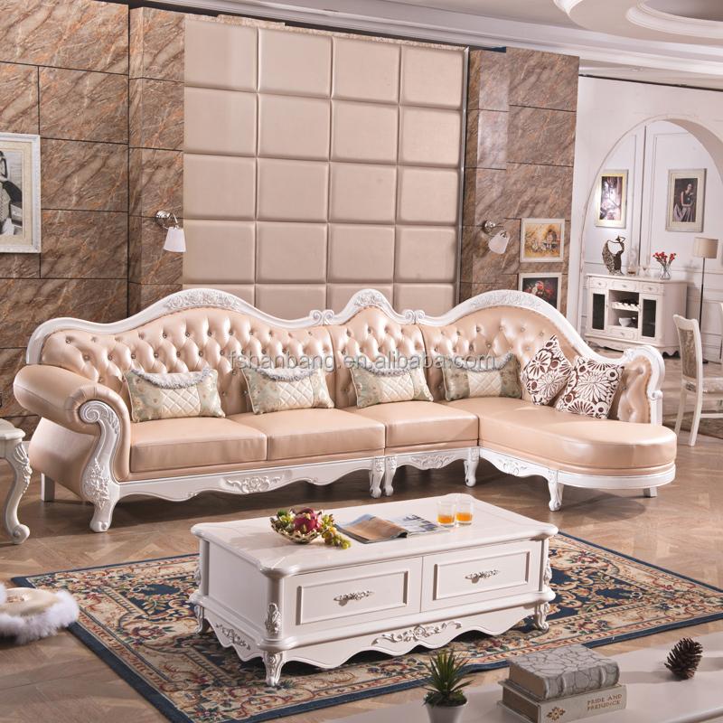 3 piece white leather sofa set vintage for sale luxury european furniture/ french style furniture ...