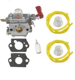 huri carburetor with gasket fuel line primer bulb fuel filter for craftsman troybilt yard machine trimmer [ 1024 x 1024 Pixel ]