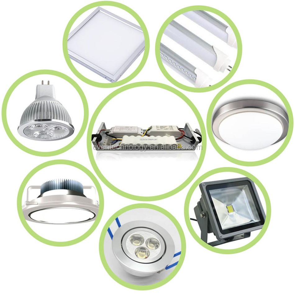 medium resolution of 54w led light fixture emergency kit 12v d 4 5ah ni cd rechargeable battery pack
