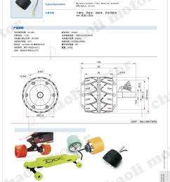 2 5 inch wheel hub motor cl rbe 4730 with 36v and 100w for scooter [ 2250 x 3000 Pixel ]