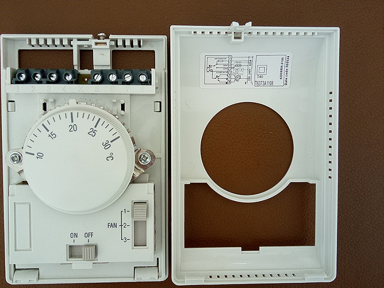 Wiring A Temperature Controller T6373a1108 Mechanical Honeywell Thermostat For Fan Coil