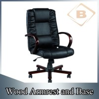 Executive Office Furniture Chair With Wood Armrest And ...