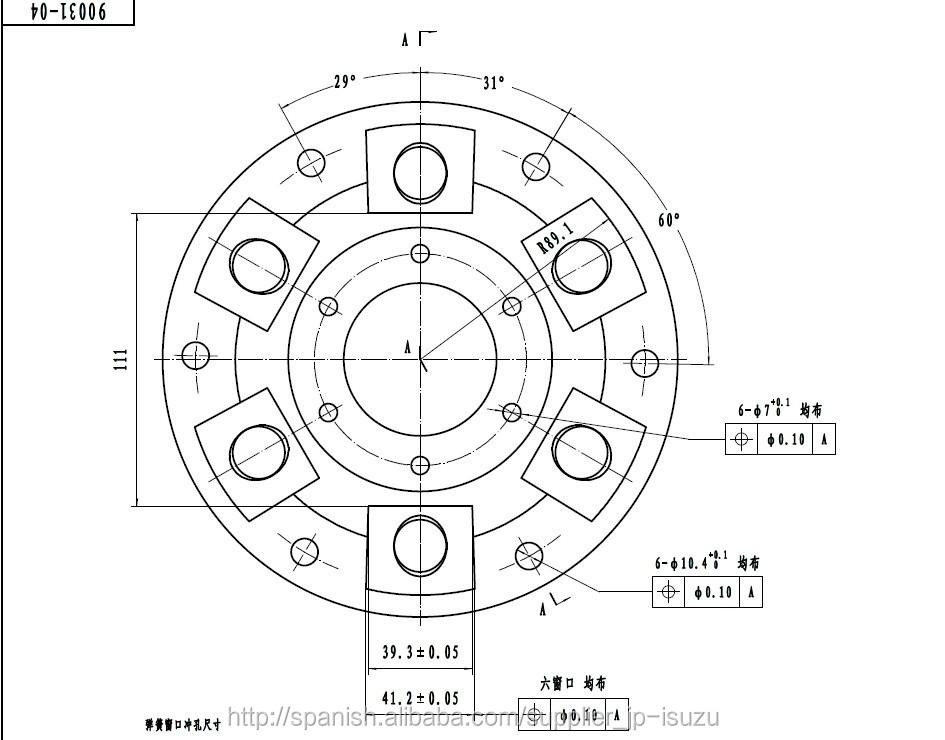 Auto Parts Hot Sale Clutch Disc 430*10 For CXZ/10PE1 OEM