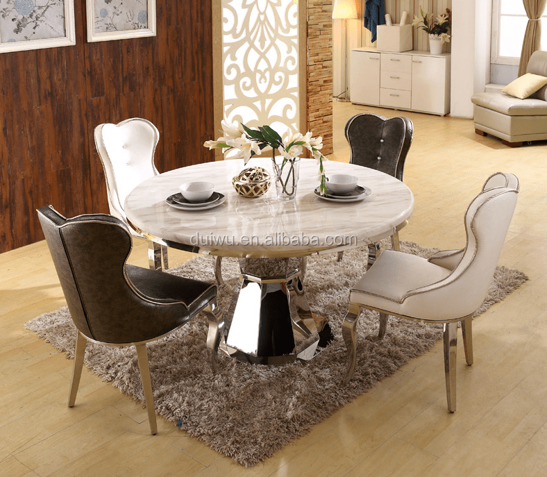 round living room set modern elegant designs marble dining table top with lazy susan tables and chairs buy restaurant stainless