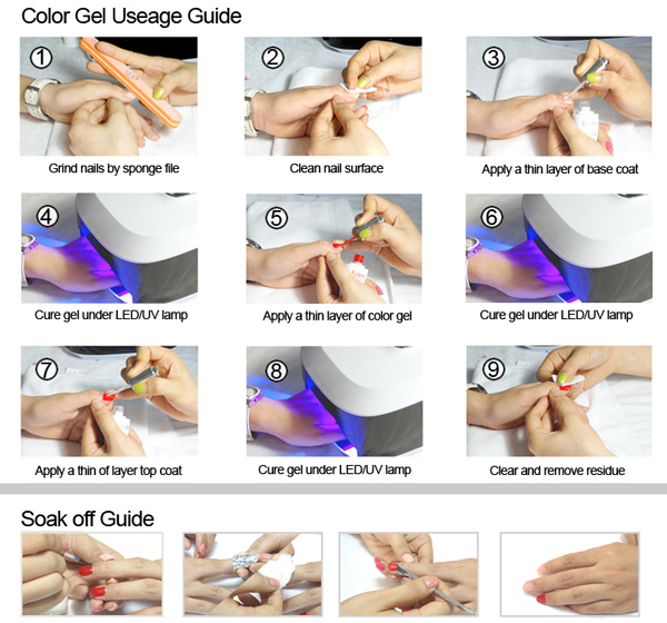 Design Nail Color Crystal Gem Stone Uv Gel Wraps Soak Off Glue Private Label