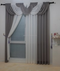 2015 Classic European Style Voile Sheer Curtain Valance ...