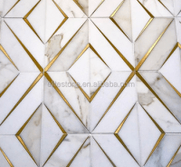 Classic Tile Flooring Brass Tile Inlay With Marble ...