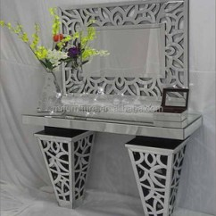 Living Room Console Tables Mirrored Unique Wall Clocks For Glass Mirror Table Vanity Furniture Buy