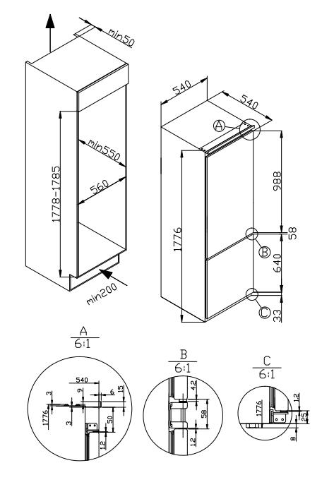 270l Mechanical Control Double Door Combi Fridge Freezer