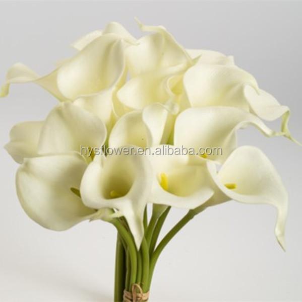 Rel tactile fleur blanc calla lily mini Plastique fleur