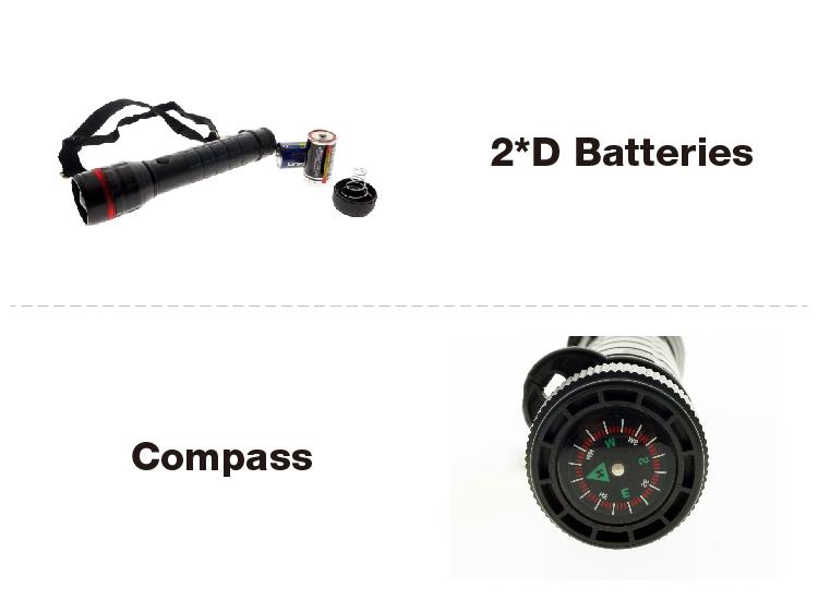 Security Tough Shape Dry Battery D Size 2pcs Back