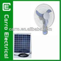 """Solar Wall Mount Fan 12v 18"""" Battery Rechargeable Wall Fan ..."""