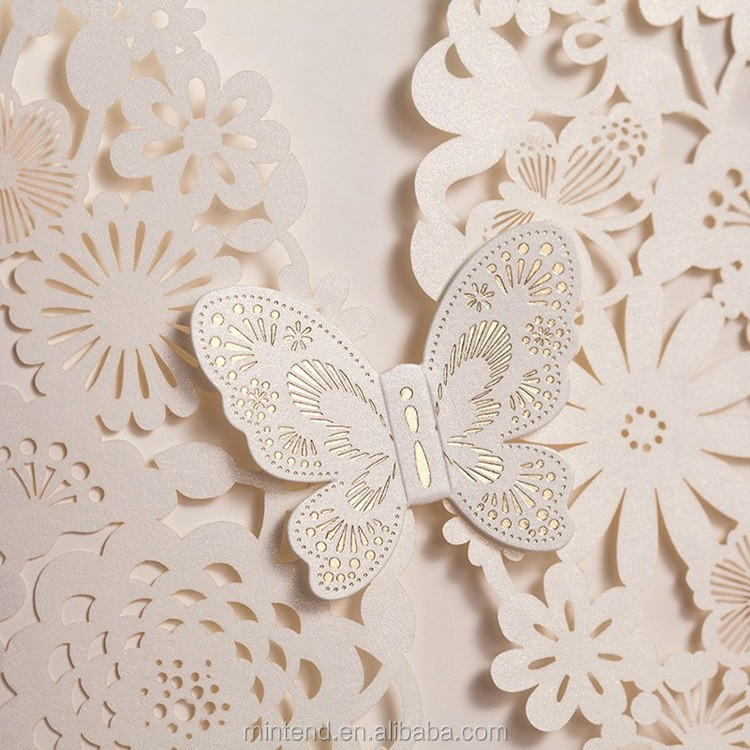 Paper Cut Out Wedding Invitations