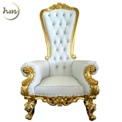 Throne Chair Cover Lounge Leather Gold Royal Queen For Wedding Party Quinceaneras Gift