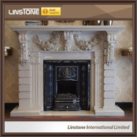 Beige Mantel Surround Marble Fireplace - Buy Marble ...