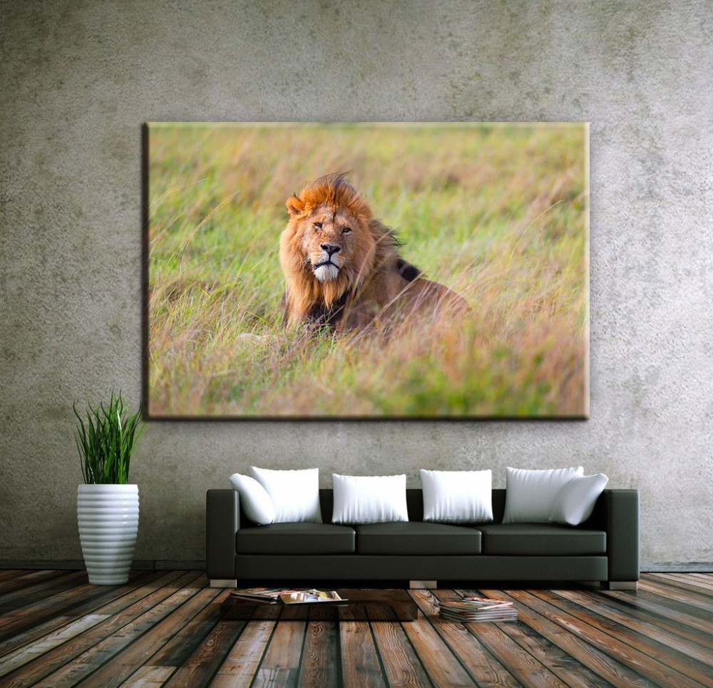 fierce lion outdoor canvas