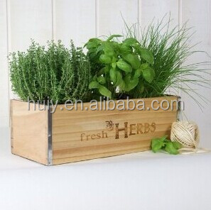 Pair Noella Wood Metal French Planter Decorative Box Transitional Bo
